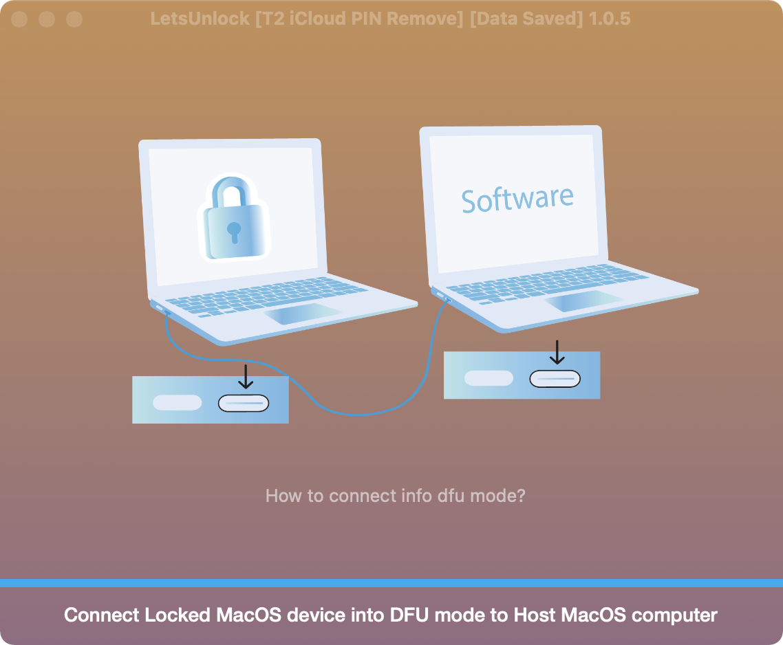 Put mac to DFU mode to start bypass system PIN lock