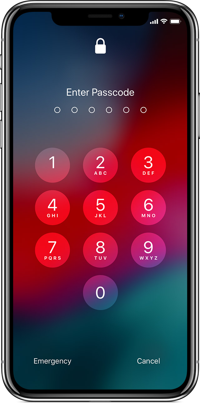 Unlock passcode disable iPhone or iPad