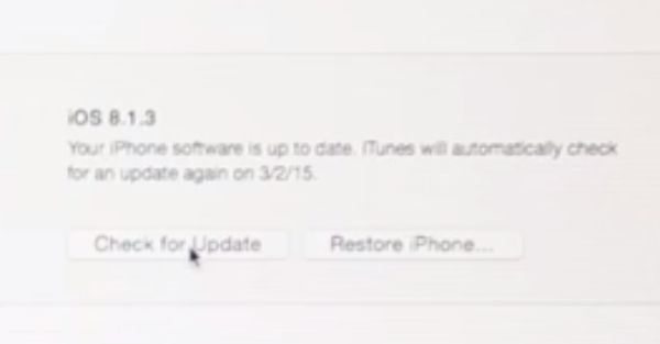 Update to iOS 8.2 Beta 2 on iTunes