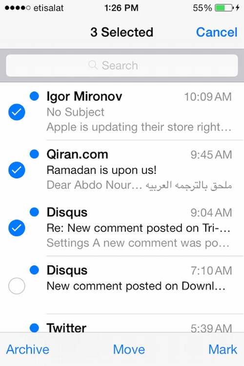 Manage Multiple Messages