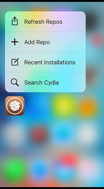 3D Touch Cydia Jailbreak Tweak iPhone 6