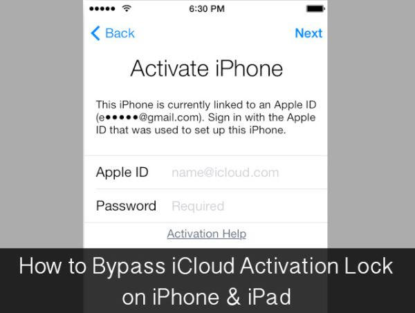 Activate iPhone Feature Option iCloud Activation Lock
