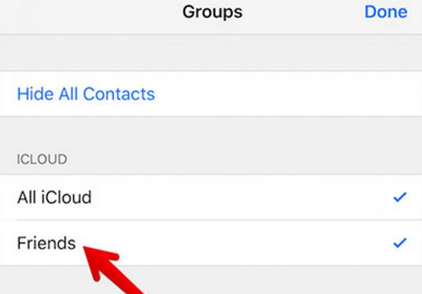 iPhone Contacts Group iCloud New