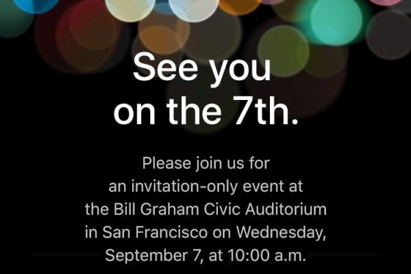 Apple September 7 2016 Event Invitation