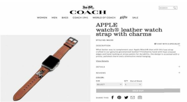 Apple Watch Coach Bands 2016