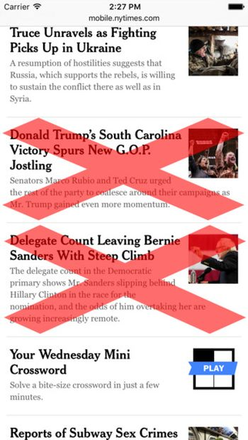 Block Political Content iOS 9 iPhone Safari