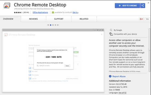 Chrome Remote Desktop for Windows and Mac