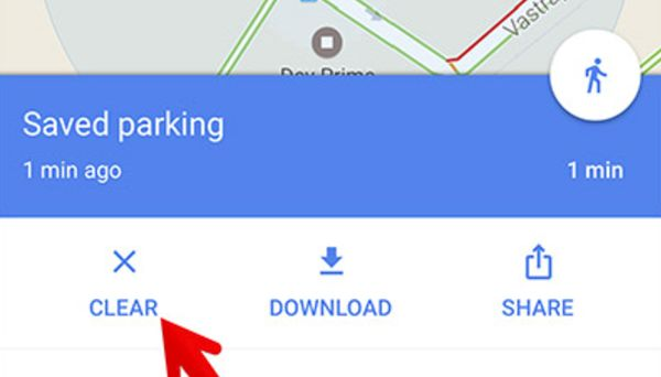 Delete Parking Location Spot on Google Maps iPhone