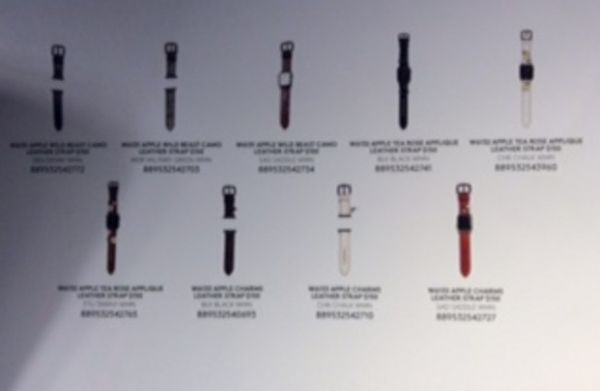Coach Apple Watch Nine Straps Bands 2016 Rumor