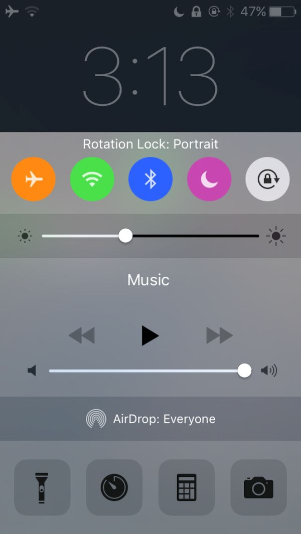 Colorful Toggles Control Center iOS 9 iPhone Jailbreak Tweak