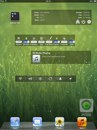 Dashboard X Cydia tweak