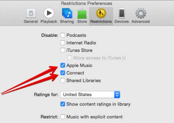 Remove Apple Music from iTunes Mac and PC