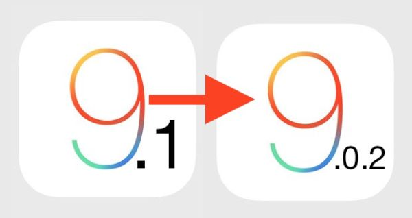 Downgrade iOS 9.1 to iOS 9.0.2 Impossible