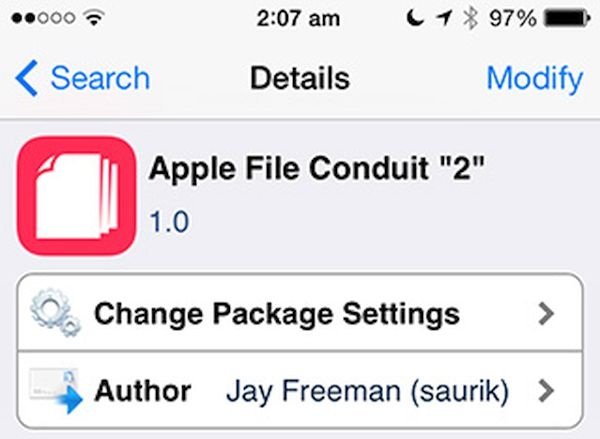 Download Apple File Conduit 2 Cydia Tweak