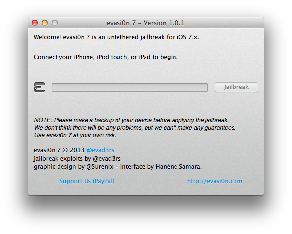 Download Evasi0n7 1.0.1
