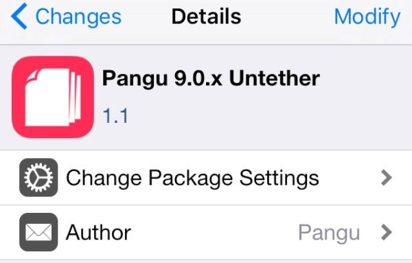 Download Pangu Untether Package Cydia for iOS 9 Jailbreak Bug Fix