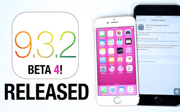 Download iOS 9.3.2 Beta 4 Dev Public Beta iPhone iPad