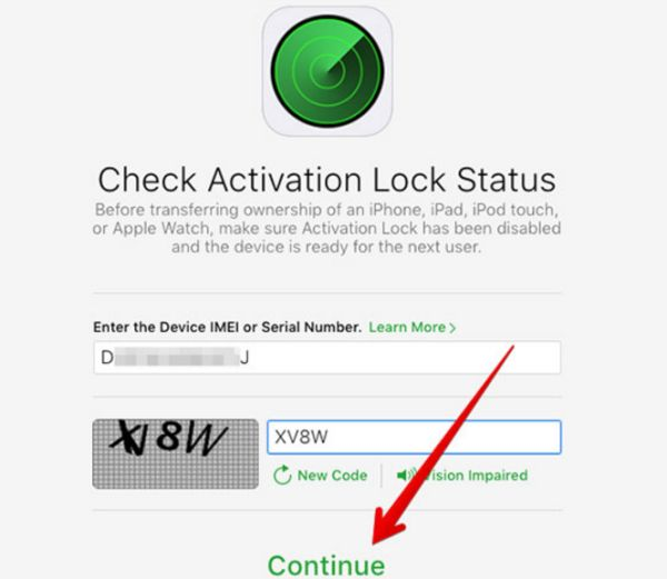 iPhone Activation Lock Status Check