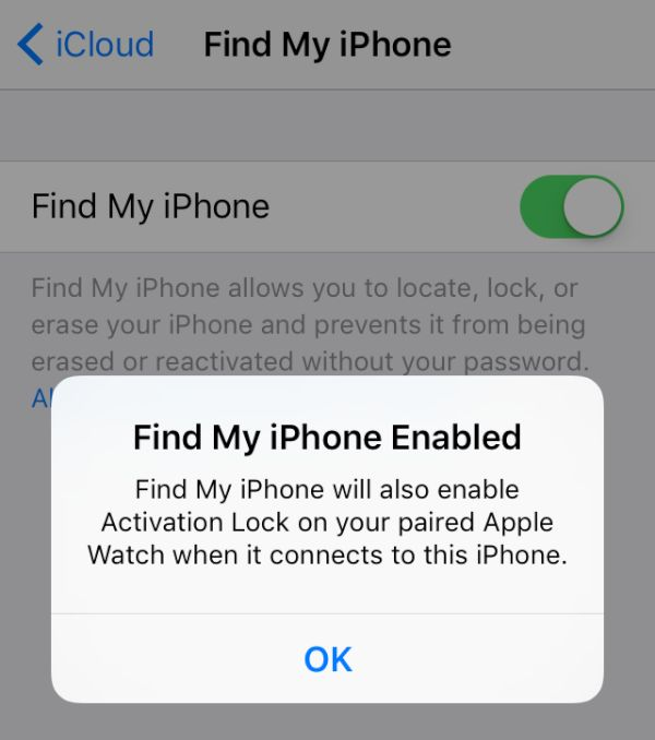 Is Find My iPhone Turned On or Off?