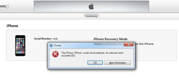 Fix iPhone Error 53 Brick iOS 9.2.1 Update