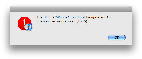 Fix iTunes Error 1015