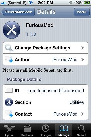 FuriousMod tweak
