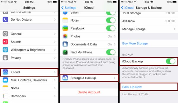 How to Backup iPhone iCloud Guide