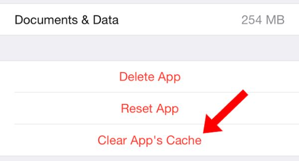 iPhone Cache Clear