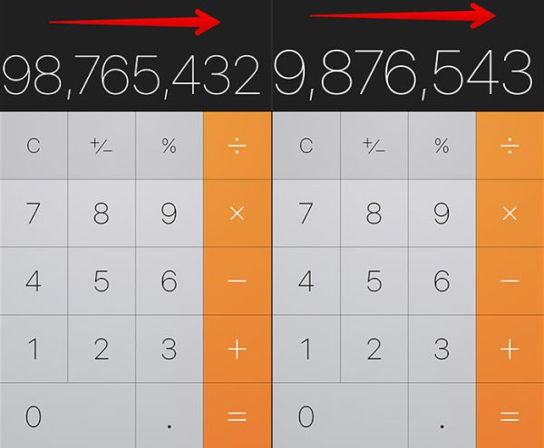 Remove Numbers in Calculator