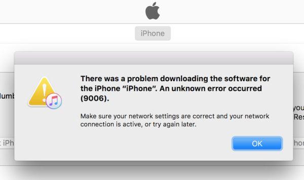 iTunes Error 9006 Fix iOS 10 iPhone