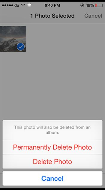 How to Permanently Delete Photos on iPhone iOS 8 Jailbreak Tweak