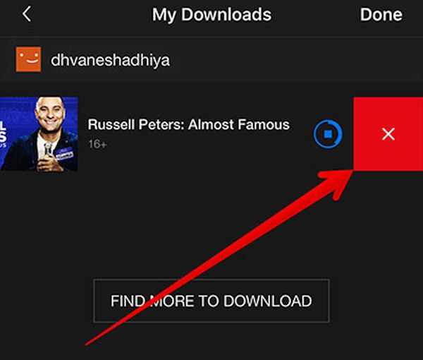 How to Delete Videos from Netflix iPhone