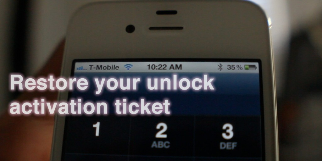 restore sam unlock on ios 5.1.1