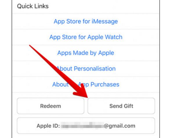 Send Gift Card from iTunes iPhone