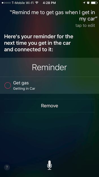 How to Set Get In Car iPhone iOS 9 Reminders Instruction