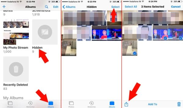 How to Unhide iOS 10 Photos on iPhone