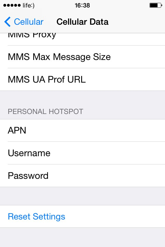 personal hotspot not working