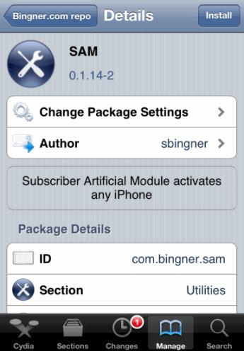 SAM unlock for any iPhone baseband 1