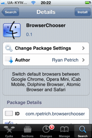 enable goole chrome as a default browser on iphone