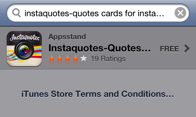 Instaquotes App Store Virus Found Today