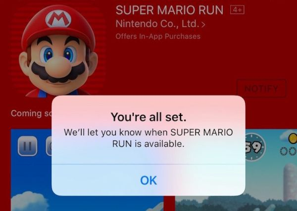 Mario Run Game for iPhone Release Date