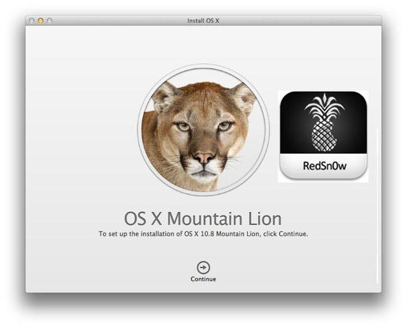run redsn0w on mountain lion