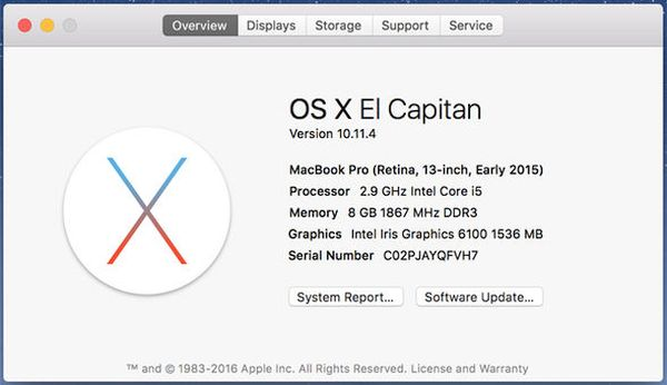 OS X 10.11.4 Mac Bug Freezing Issue Problem