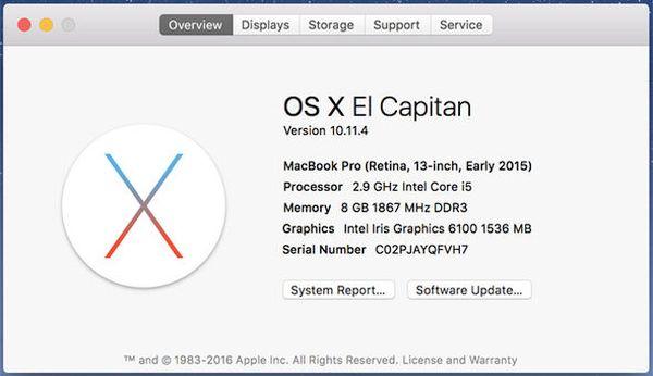 OS X 10.11.4 Mac Bug Freezing Issue Problem