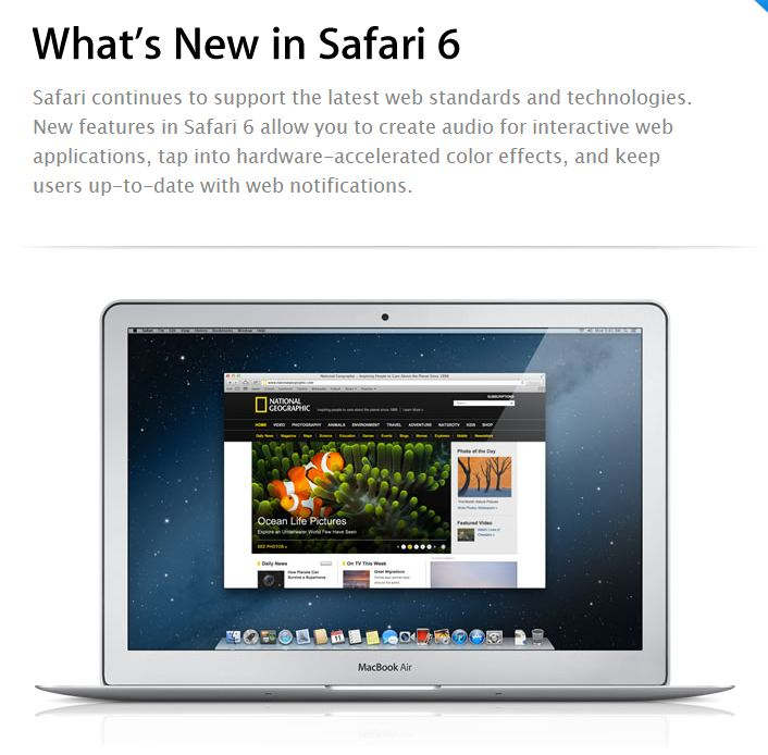 Safari 6.0 for OS X Mountain Lion Features Overview