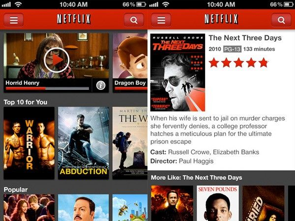 Download Videos on iPhone via Netflix