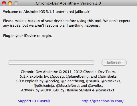 how to jailbreak iOS 5.1.1 using Absinthe 2.0