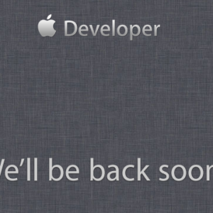 What developers see trying to get onto Apple's developers site, currently.