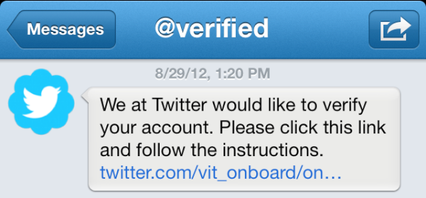 Verify Twitter Account