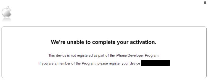 fix iPhone activation error in ios 7 beta